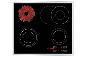 Electric Glass Hob Birdseye